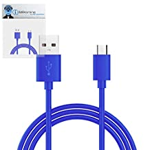 Blue THIN USB 2.0 Micro USB to USB 2.0 SYNC & CHARGE Charging Tangle Proof Cable (1 Meter) For KangerTech EvoD Mega Express Kit