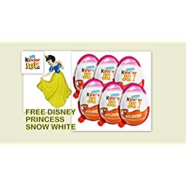 Free Disney Princess Snow White Figurine with Chocolate Kinder Joy for Girls with Surprise Inside (6-Pack) 6 The Tastiness of a Milky Cream and a Cocoa Cream, with Two Crispy Wafer-Balls Satisfies Your Little Hunger Without Getting in the Way of Your Next Meal A delicious chocolate with layers of cocoa and milk cream