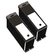 2 Inkfirst® Black Ink Cartridge Series 21 22 23 24 Y498D Black Compatible Remanufactured for Dell V313 V515W P513W Black Dell V715W P713W V313 V313W V515 P513W