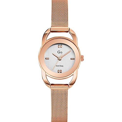 Go Girl Only 694935 - Reloj de Plata de Mujer, Cuarzo analógico, Correa de Acero Rosa: Amazon.es: Relojes