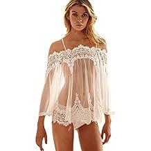 SPE969 Nightwear+G-String Babydoll Sleepwear Lingerie Underwear Lace Dress