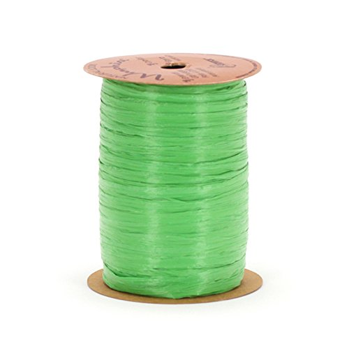 - Berwick Offray 1/4'' Wide Matte Raffia Ribbon, Apple Green, 100 Yards