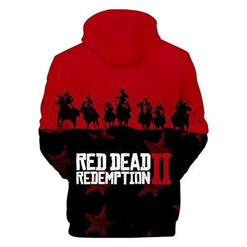 Capuche À Red 09 Ctooo Homme Sweats 2 Xxs Dead xxxl Redemption Imprimé ECwAqA15