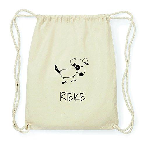 JOllipets RIEKE Hipster Turnbeutel Tasche Rucksack aus Baumwolle Design: Hund