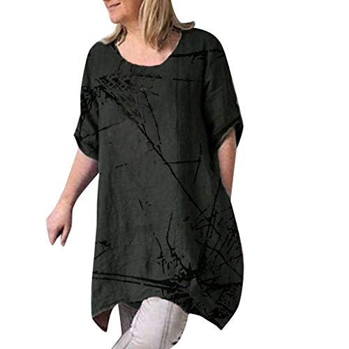 YEZIJIN Women Summer Casual Short Sleeve Round Neck Printed Tops Loose T-Shirt Blouse Fashion 2019 Under 10 Dollars -