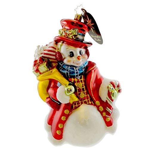 Christopher Radko Dapper Snow Chap Ornament