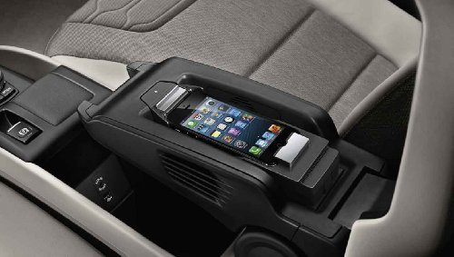 BMW Apple Iphone 5 5s Snap-in Media Cradle Holder Adapter Music Basic New OEM (BLACK) by OEM BMW
