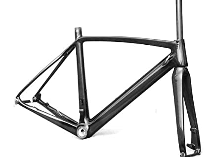 Amazon.com : Full Carbon Road Bike Disc Brake Frame Fork 50cm : Road ...