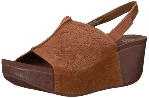 Yellow Box Women's Redding Wedge Sandal, tan, 11 Medium US