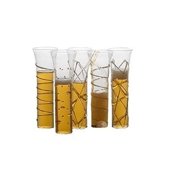 ABIGAILS 6 oz Stemless Razzle Dazzle Flute Champagne Glass