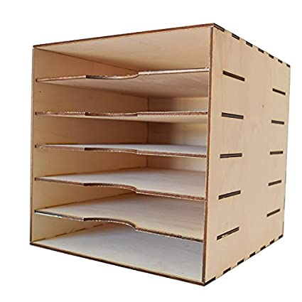 KORA projects Organizador con Cinco estantes para Papeles de 12x12 (30,