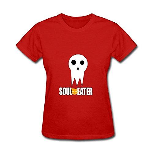 Yhdjk Women's Soul Eater Death T Shirt Red S