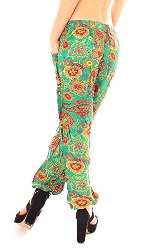 Easy Young Fashion - Pantalón - tiro caído - para mujer Blüte grün