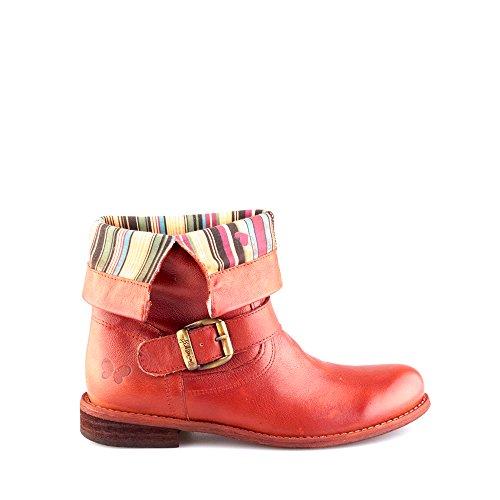 Felmini - Zapatos para Mujer - Enamorarse com Oderg 8247 - Botas Cowboy & Biker - Cuero Genuino - Rojo Rojo
