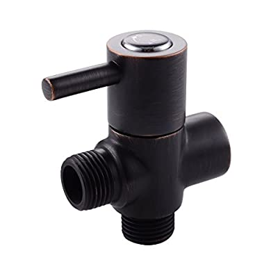 KES SOLID Brass Shower Arm Diverter Valve Bathroom Universal Shower System Component Replacement Part for Hand Held Showerhead and Fixed Spray Head, PV14-P