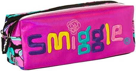 Smiggle Seek, estuche portalápices escolar con dos cremalleras para niñas y niños | Con dibujos de corazones: Amazon.es: Oficina y papelería