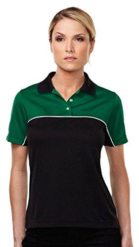 - Tri-Mountain KL908 Women's Double-Clutch Mesh Polo Shirt Kelly Green/Black 2XL