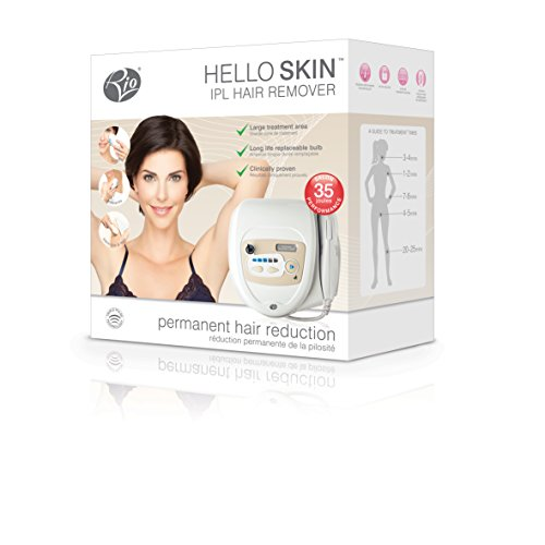 Rio HELLO SKIN IPL Permanent Home Laser Removal for Facial & Body Hair with 150k shots !