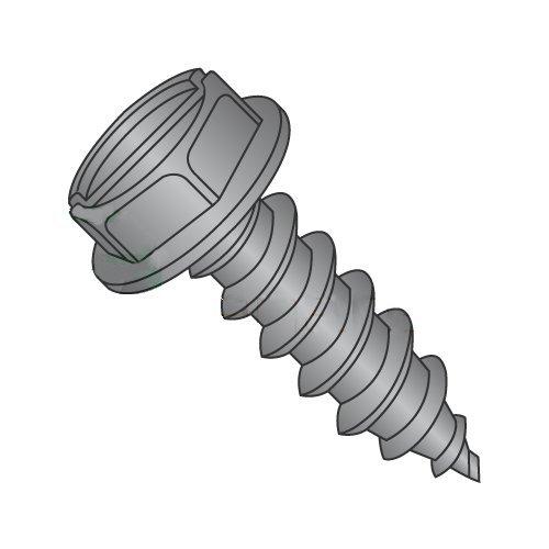 "#14 x 3/4"" Type AB Self-Tapping Screws/Slotted/Hex Washer Head/Steel/Black Zinc (Carton: 3,000 pcs) 41gRr3ttrJL"