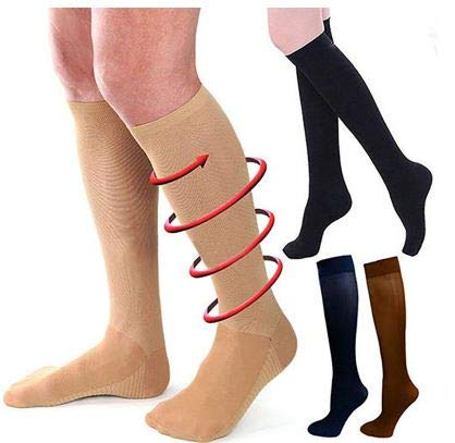 1f0da4e3e Buy Hot Sale Female Outdoor Anti-Fatigue Knee High Stockings (Beige) Online at  Low Prices in India - Amazon.in