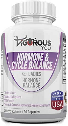 Menopause Relief - PMS Relief - PCOS - Hormone Balance - Women - Perimenopause - Supports Reproductive Health - DIM - Dong Quai - Ashwagandha - Berberine - Chasteberry - 1-500 MG
