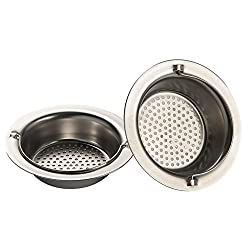 Daixers 2pcs Kitchen Garbage Portable Sink Strainer Heavy-Duty Stainless Steel (Top Diameter 4.3in)