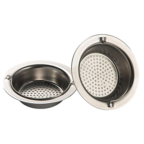 Daixers 2pcs Kitchen Garbage Portable Sink Strainer Heavy-Duty Stainless Steel (Top Diameter