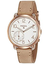 Fossil Q Tailor  2 Hybrid Sand Leather and Rose Gold Tone Stainless Steel Smartwatch