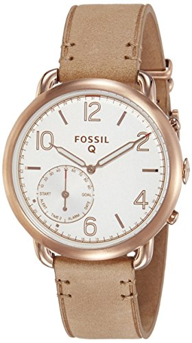 Fossil-Q-Tailor-Gen-2-Womens-Light-Brown-Leather-Hybrid-Smartwatch-FTW1129