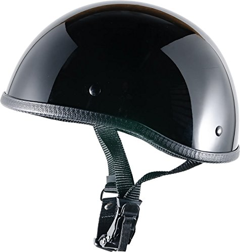 Bikerhelmets.com - SOA inspired DOT Beanie Gloss Black No Peak - 3XL by Bikerhelmets.com