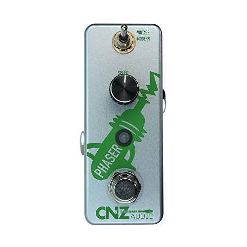 CNZ Audio Phaser Guitar Effects Pedal, True Bypass