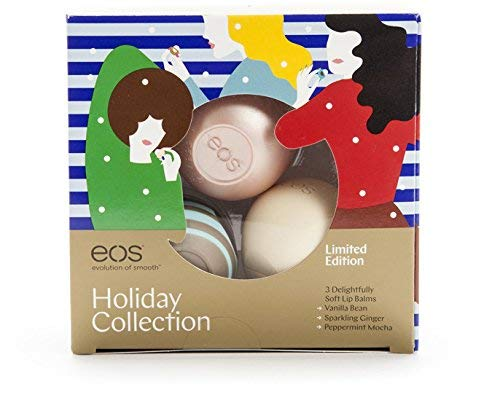 Eos 3 Pc Lip Balm Set Vanilla Bean Peppermint Mocha And Sparkling Ginger Limited Edition