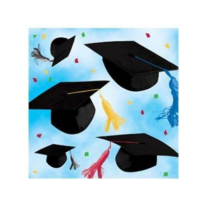 Cap Toss Graduation Beverage Napkins 20 Per Pack -