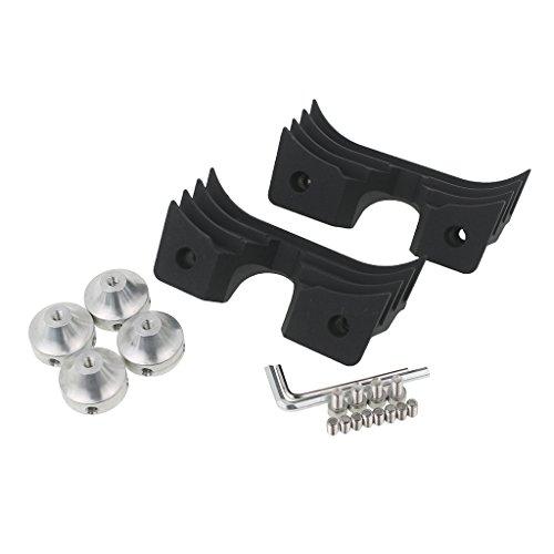 Rebacker Motorcycle Drag Wrinkle Black Finned Spark Plug Head Bolt Covers For Harley Sportster 883 1200 2004-2014 (Ignition Cover Plugs)