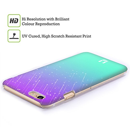 Head Case Designs Purple Aqua Neon Rain Ombre Protective Snap-on Hard Back Case Cover for Sony Xperia ion LTE LT28i