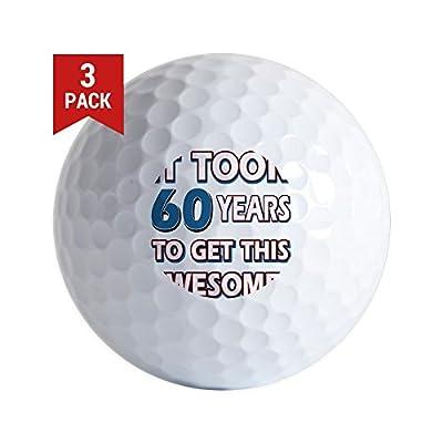 CafePress - 60 Year Old Birthday Gift Ideas - Golf Balls (3-Pack), Unique Printed Golf Balls