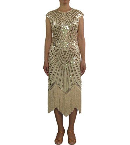 Fringe Ladies 1920s Charleston Gatsby Jazz Age Fancy Prom Dresses Costumes (Jazz Age Costume)