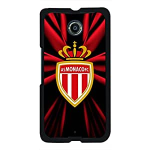 Monaco Black Phone Case Association Sportive De Monaco Football Club Phone Case 160 Protective Google Nexus 6 Phone Case Cover