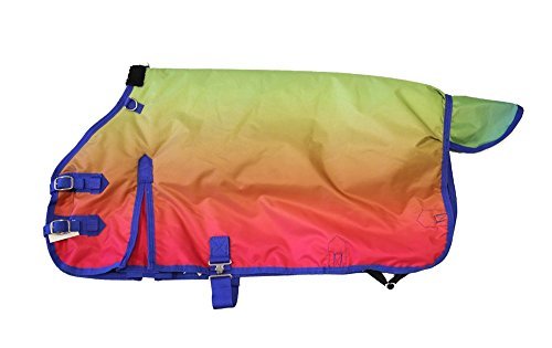 - AJ Tack Wholesale Miniature Horse Winter Blanket 600D Rip Water Proof 300g Medium Weight Rainbow 44