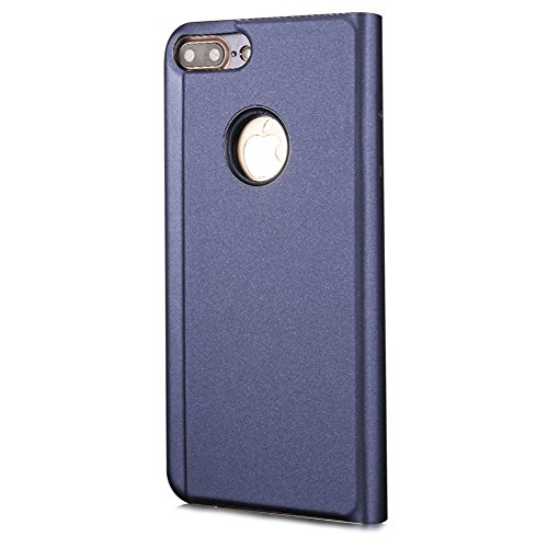 Plus Pour Pc 6 Cuir Slim Luxe Pu Dur Mince 6 View Transparente Aearl Plus Clapet Portefeuille Violet Coque Plus bleu Ultra Standing Design Placage Miroir Iphone Plus 6s Fit 6s vaqwBBIF5x