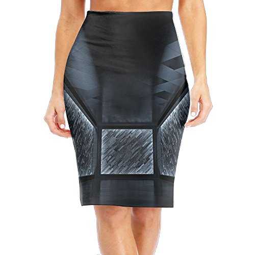 Yuyu Abstract Futuristic Room D Render Women's High Waist Stretch Bodycon Pencil Skirt (Cycles Render)