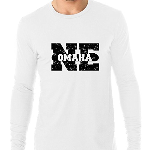 Hollywood Thread Omaha, Nebraska NE Classic City State Sign Men's Long Sleeve T-Shirt