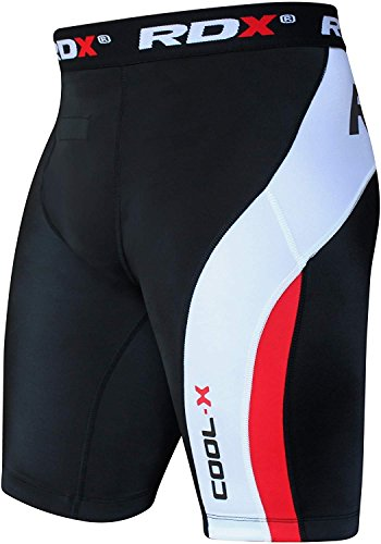 RDX MMA Mens Thermal Compression Shorts Boxing Training Base Layer Fitness Running Exercise
