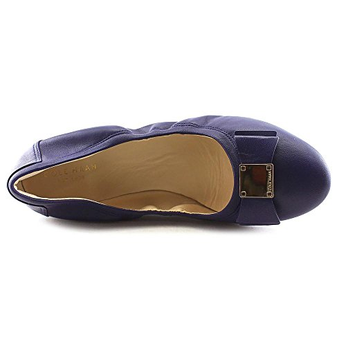 Cole Haan Women Tali Bow Ball Flat, Astral Blue, 9 M Us