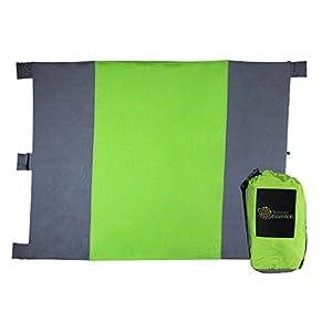 Sand Proof Blanket: 100% Durable Ripstop Nylon, Lightweight, Waterproof Coating, 8' x 9' (Green)