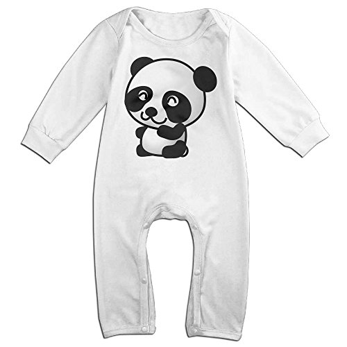 [Baby Infant Romper Panda Animal Long Sleeve Playsuit Outfits White 18 Months] (Panda Bear Baby Plus Size Costumes)
