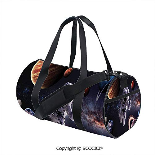 (Men's Sports Shoulder Bags,Astronaut Between Planets Mars Neptune Jupiter Plasma Ethereal Sphere PictureSports and Fitness Essentials,(17.6 x 9 x 9 in) Multi)