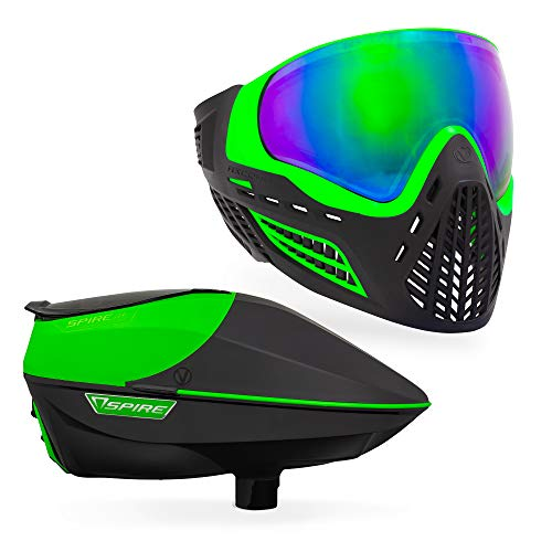 Virtue Spire IR Electronic Paintball Loader and VIO Ascend Mask Bundle - Lime