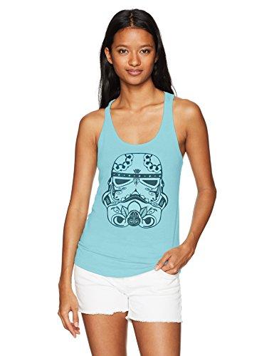 Sugar Skull Female (Star Wars Women's Sugar Skull Storm Trooper Ideal Racerback Graphic Tank Top, Cancun,)