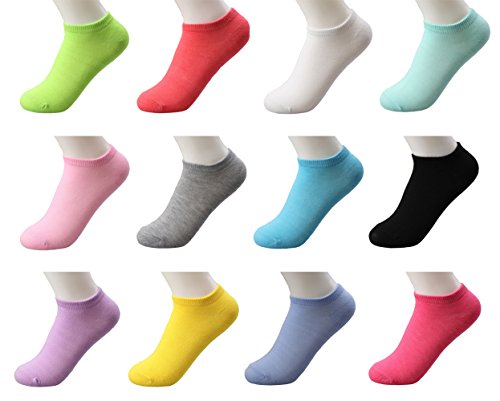 n Low Cut Ankle Socks Causal Workout Solid Color ()
